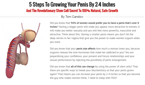 Natural ways to make penis larger